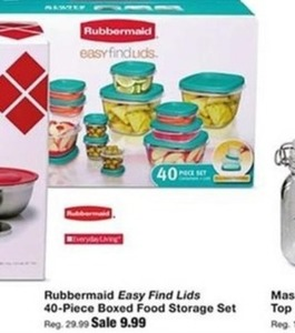 Rubbermaid Easy Find Lids 40pc Boxed Food Storage Set