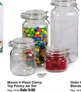 4 Piece Mason Jar Set