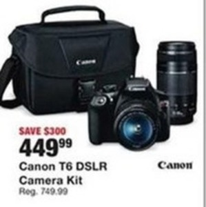 Canon T6 DSLR Camera Kit