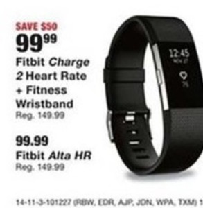 Fitbit Charge 2 Heart Rate and Fitness Wristband or Fitbit Alta HR