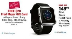 Fitbit Blaze w/ $20 Giftcard