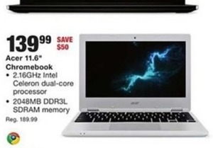 "Acer 11.6"" Chromebook"