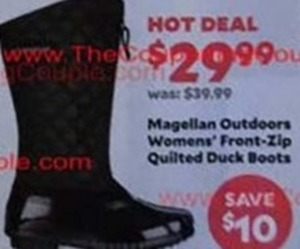 Women's Magellan Outdoors Front-Zip Quilted Duck Boots