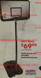 "Huffy Sports 44"" Portable Basketball System"
