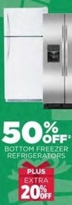 Bottom Freezer Refrigerators + Extra 20% Off