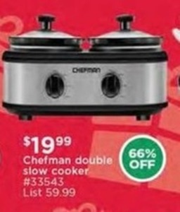 Chefman Double Slow Cooker