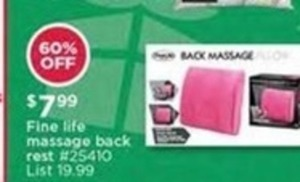 Fine Life Massage Back Rest