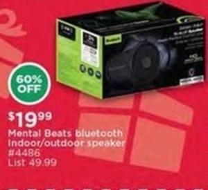 Mental Beats Bluetooth Indoor/Outdoor Speaker