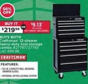 Craftsman 12-Drawer Heavy-Duty Tool Storage Combo