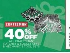 All Craftsman Ratchet & Socket Sets and Mechanic's Tool Sets