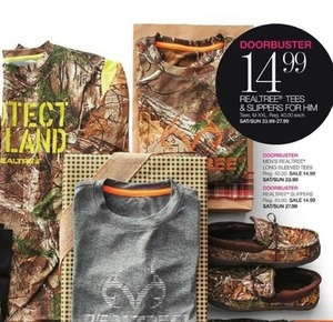 Realtree Tees and Slippers for Him