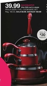Paula Dean 11pc Cookware Set After Mail-in Rebate