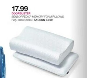 Sensorpedic Memory Foam Pillows