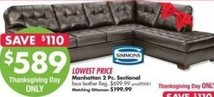 Manhattan 2PC Sectional