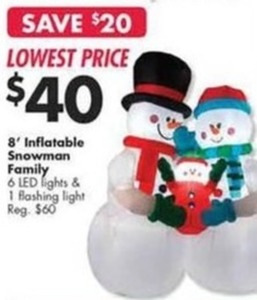 8' Inflatable Snowman Family