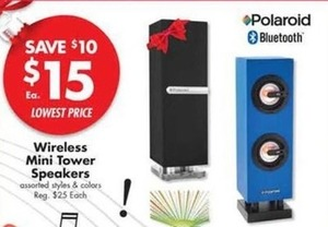 Wireless Mini Tower Speakers