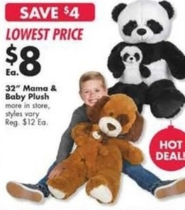 """32"""" Mama & Baby Plush"""