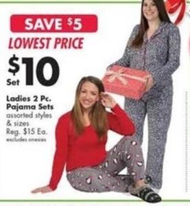 Ladies 2-Pc. Pajama Sets