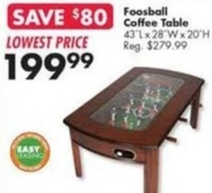 Foosball Coffee Table