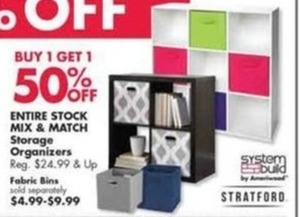 Entire Stock of Mix & Match Storage Organizers