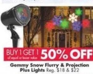 Gemmy Snow Flurry & Projection Plus Lights
