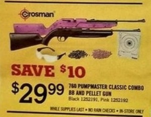 Crosman 760 Pumpmaster Classic Combo BB and Pellet Gun