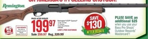 Remington 870 Express 12 or 20 Gage Shotgun After Rebate