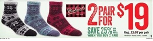 Woolrich Home Socks 2 Pair