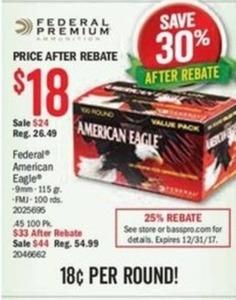 Federal American Eagle Ammunition - After Rebate