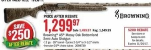 Browning A5 Mossy Oak Bottomland Semi-Auto Shotgun After Rebate