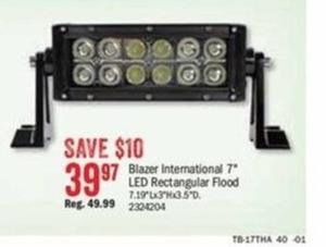 "Blazer International 7"" LED Rectangular Flood"