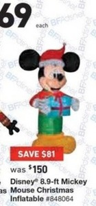 Disney 8.9-ft Mickey Mouse Christmas Inflatable