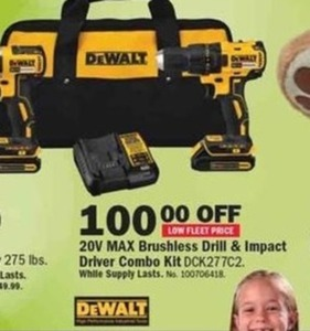 DeWalt 20V Brushless Drill & Impact Driver Combo Kit