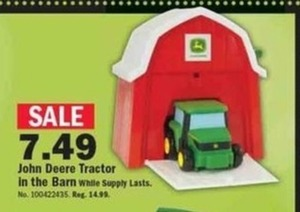 John Deere Tractor in the Barn
