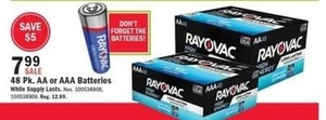 48 Pk. AA or AAA Batteries