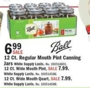 Ball 12-ct. Wide Mouth Pint or Quart Jars