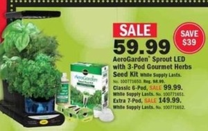 AeroGarden Sprout LED w/ 3-pod gourmet herbs seed kit