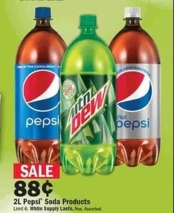 2L Pepsi Soda Products