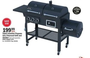 Smoke Hallow Triple Function Propane Gas/Charcoal Grill and Smoker