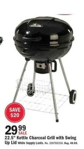 "22.5"" Kettle Charcoal Grill with Swing Up Lid"