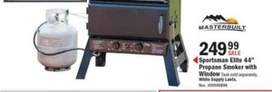 "Sportsman Elite 44"" Propane Smoker w/ Window"