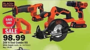 Black + Decker 20V 4-Tool Combo Kit