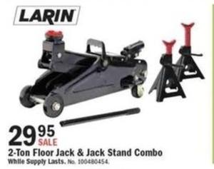 Larin 2-Ton Floor Jack & Stand Combo
