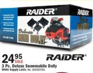 Raider 3 Pc. Deluxe Snowmobile Dolly