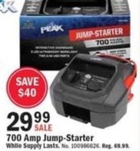 Peax 700 Amp Jump-Starter