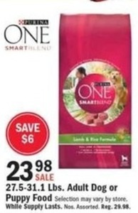 Purina One Adult Dog or Puppy Food