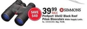 Simmons ProSport 10x42 Black Roof Binoculars