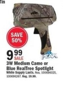 3W Medium Camo or Blue RealTree Spotlight
