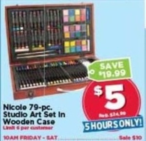 Nicole 79 pc. Studio Art Set in Wooden Case