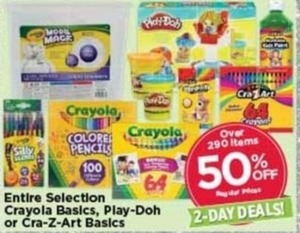 Crayola Basics, Play-Doh or Cra-Z-Art Basics